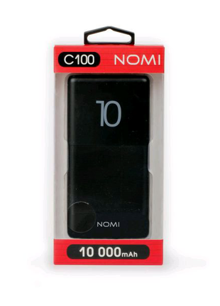 Power bank NOMI C100 10000 mAh Black