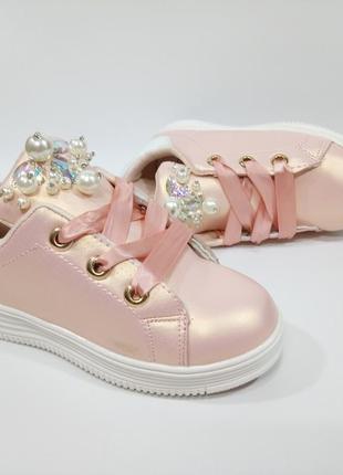 Польша! очень красивые и модные кроссовки/кеды для девочек 18см