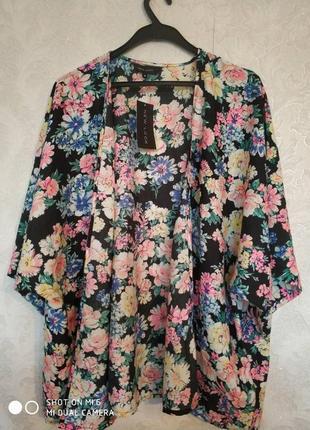 Актуальный пиджак пляжная накидка в цветочный принт бренда new...
