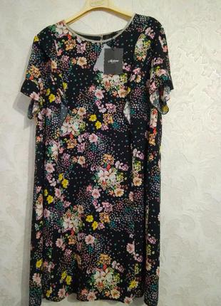 Шикарное принтовое платье бренда meteore made in italy,размер 50