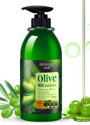 Шампунь для волос с оливковым маслом Bioaqua, восстанавливающий