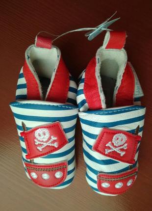 100%шкіряні туфлі, макасіни,пінетки бренда jojo maman bebe,6-1...