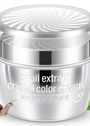Крем для лица Rorec snail extract crystal color cream 50g