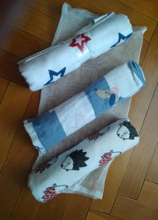 Натуральный комплект пеленок в подарочной упаковки бренда smik...
