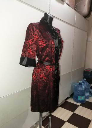 Женский халат кимоно 100% натуральный шелк  Mia-Mia Красный