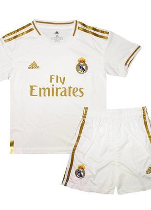 Футбольная форма реал мадрид 19-20 adidas домашняя для детей (...