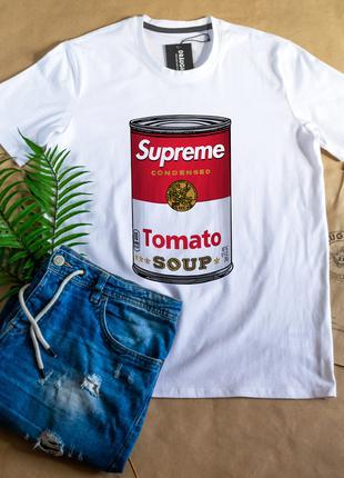 """Белая мужская футболка, антибренд """"Supreme"""" Одевайся стильно!"""