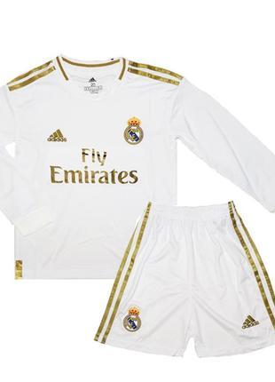Футбольная форма реал мадрид 19-20 adidas домашняя для детей с...