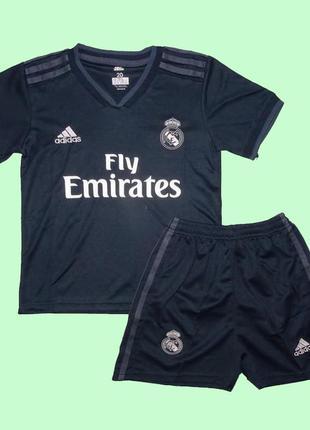 Футбольная форма реал мадрид 18-19 adidas выездная для детей (...