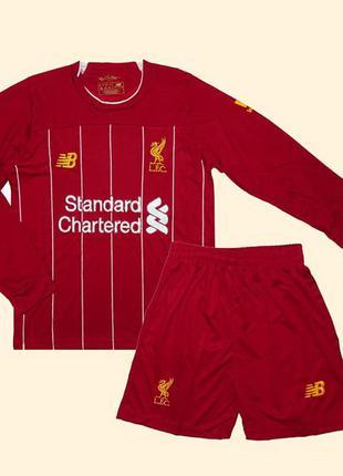Футбольная форма ливерпуля 19-20 с длинным рукавом для детей д...