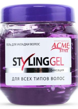 Гель для укладання волосся фіксація acme-style styling gel гел...