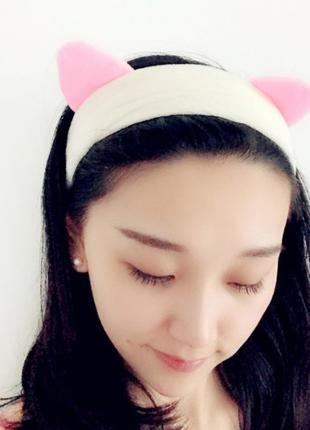 Косметическая повязка на голову Cute Cat , 4 цвета