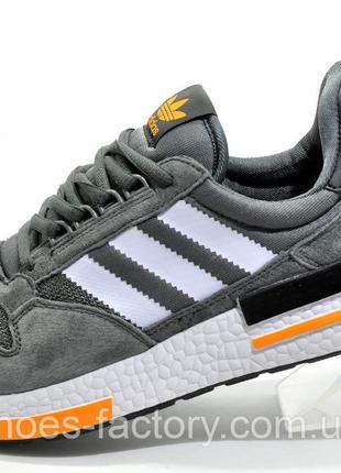 Кроссовки мужские Adidas ZX500 Boost, Серый/Оранжевый, купить