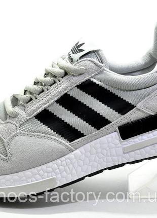 Кроссовки мужские Adidas ZX500 Boost, Серый/Чёрный, купить со ...