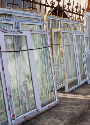 Металлопластиковые окна и двери б\у в идеальном новом состояни...