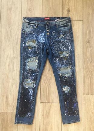 Шикарнейшие джинсы raw с пайетками