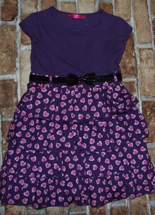 Нарядное платье с пояском 8-9 лет matalan