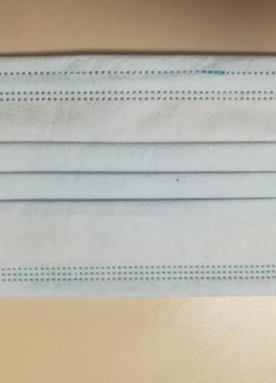 Маски медицинские одноразовые трехслойные