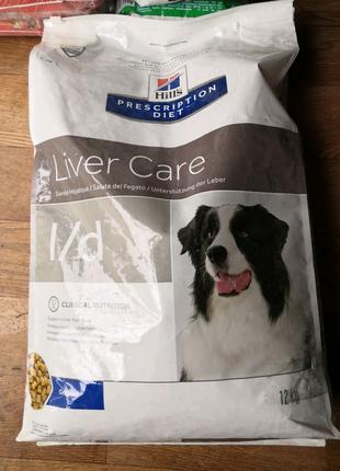 Hills PD Canine L/D- для собак при заболевании печени 12кг дефект