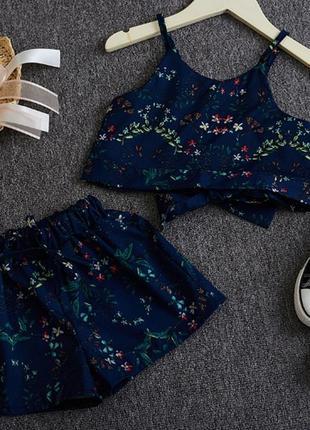 Милый качественный летний костюм комплект девочке