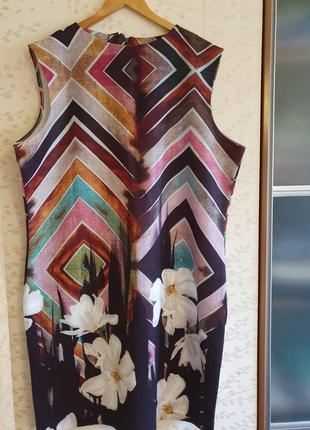 Платье миди футляр летнее сарафан большого размера