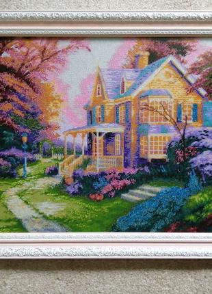 """Картина бісером """"Осіння алея"""""""