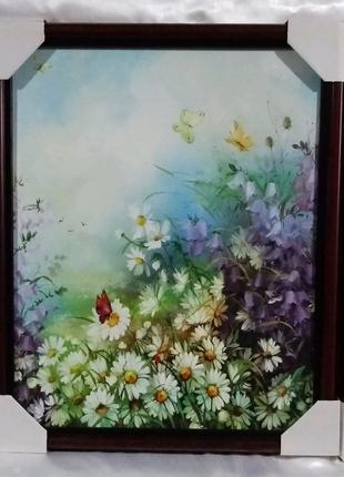 """Триптих  """"Цветы"""" (набор из  трех картин)."""