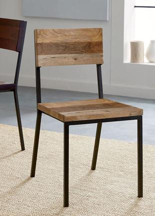 """Стул,стілець в стилі Лофт з натурального дерева InLoft """"Cальва"""""""