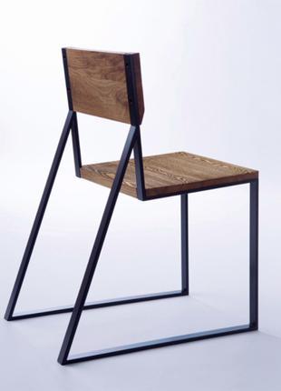 """Стул,стілець в стилі Лофт з натурального дерева InLoft """"Ліберті"""""""