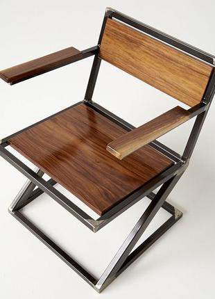 """Стул,стілець в стилі Лофт з натурального дерева InLoft """"Бракт"""""""