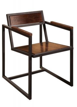 """Стул,стілець в стилі Лофт з натурального дерева InLoft """"Квадро"""""""