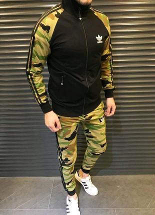 Спортивный мужской костюм камуфляж Adidas