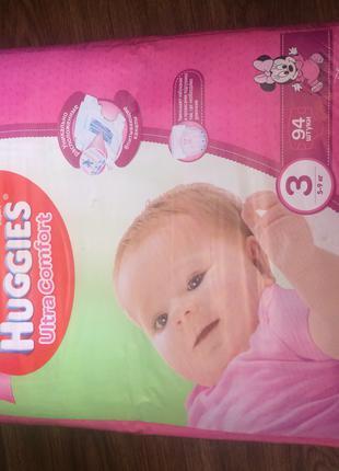 Huggies ultra comfort для девочек 3 размер