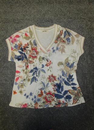 Шикарная футболка с цветочным принт