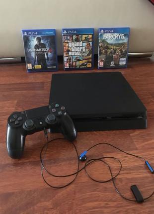 PlayStation 4 Slim 500ГБ + 13 игр в системе