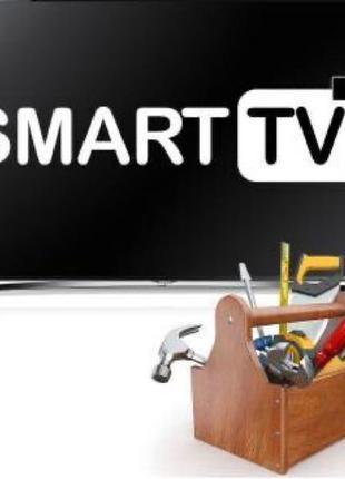 Настройка Смарт тв Android tv smart tv Установка тв на стены