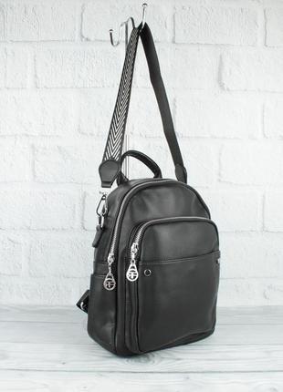 Городской рюкзак-сумка farfalla rosso 15865 черный