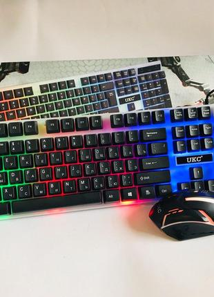 Игровая клавиатура с подсветкой и мышкой M-416