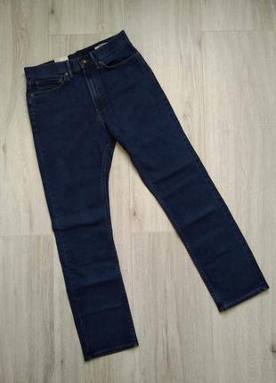 Джинсы мужские прямые синие marks & spencer размер w30/l31 reg...