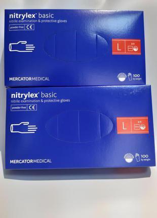 Нітрилові рукавиці розміри- L, XS, M