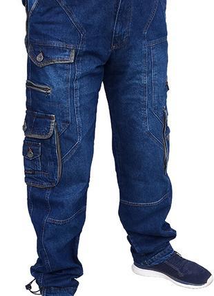 PRODIGY мужские джинсы с карманами большого размера