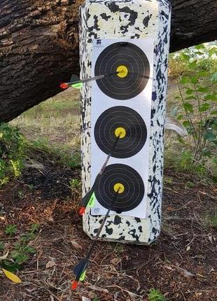 Мишень куб стрелоуловитель изолон для стрельбы из лука и арбалета