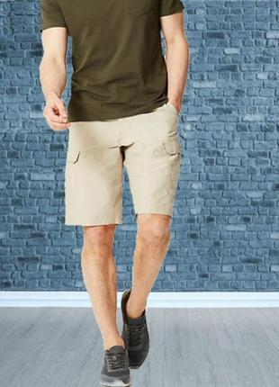 🍀 marks&spencer   мужские шорты карго бежевые 🍀🍀🍀