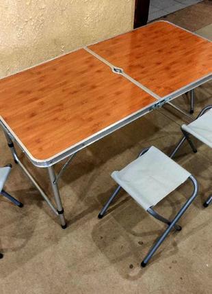 Стол для пикника раскладной с 4 стульями Folding Table