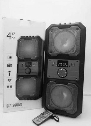Портативная Мобильная Bluetooth колонка Kts 1048 с подсветкой