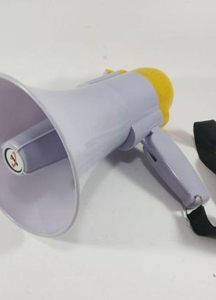 Ручной мегафон рупор 15w дальность 200м громкоговоритель