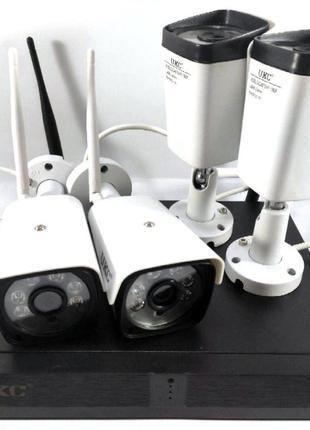 Комплект видеонаблюдения WiFi 4 камеры и регистратор