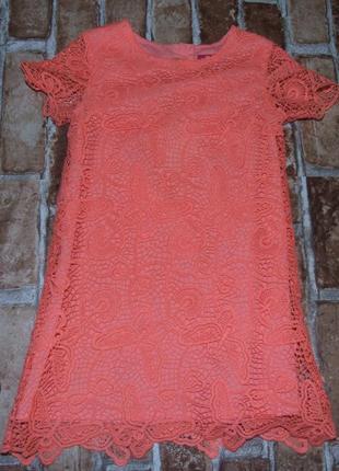 Нарядное кружевное платье 2-3 года