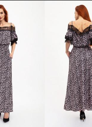 Платье цвет Розово-черный