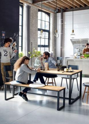 """Лавка для кухни и столовой в стиле Лофт InLoft """"Сена"""""""